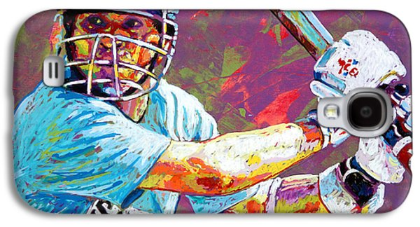 Sachin Tendulkar Galaxy S4 Case by Maria Arango