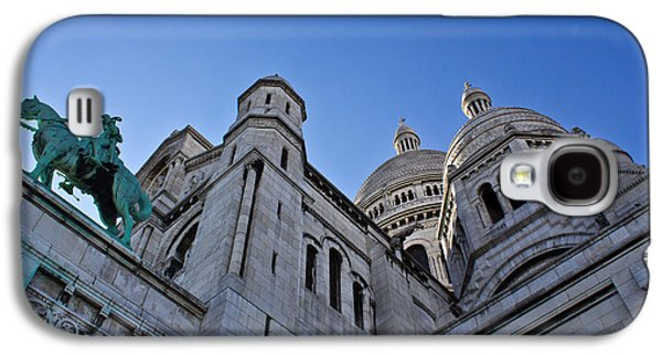 Statue Portrait Galaxy S4 Cases - Sacre Coeur Galaxy S4 Case by Chris Whittle