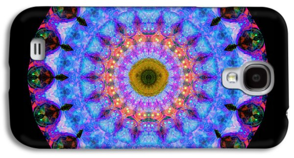 Sacred Crown - Mandala Art By Sharon Cummings Galaxy S4 Case by Sharon Cummings