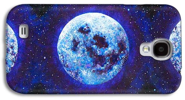 Sacred Feminine Blue Moon Galaxy S4 Case by Shelley Irish