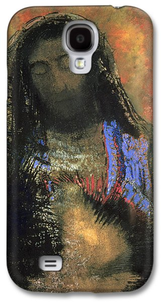 Bible Pastels Galaxy S4 Cases - Sacred Heart Galaxy S4 Case by Odilon Redon