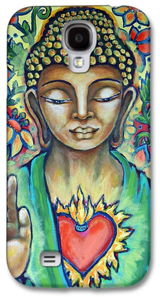 Sacred Heart Of Buddha Galaxy S4 Case by Shelley Bredeson