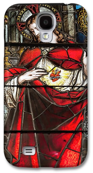 Mercy Galaxy S4 Cases - Sacred Heart of Jesus Galaxy S4 Case by Bonnie Barry