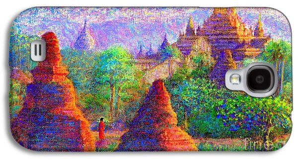 Buddhist Paintings Galaxy S4 Cases - Sacred Spires Galaxy S4 Case by Jane Small