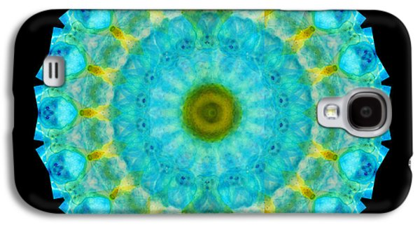 Energy Mixed Media Galaxy S4 Cases - Sacred Voice - Mandala Art By Sharon Cummings Galaxy S4 Case by Sharon Cummings