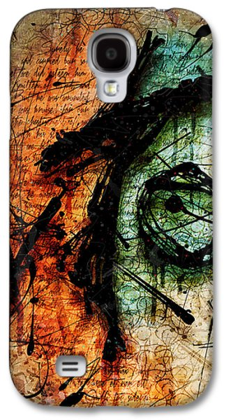 Colorful Abstract Galaxy S4 Cases - Sacrifice Galaxy S4 Case by Gary Bodnar