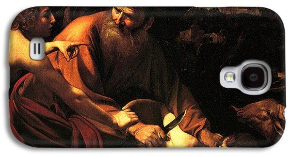 Caravaggio Galaxy S4 Cases - Sacrifice of Issac Galaxy S4 Case by Caravaggio