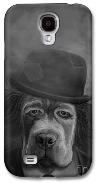 Dogs Digital Galaxy S4 Cases - Sad Dog Galaxy S4 Case by Ivan Pawluk