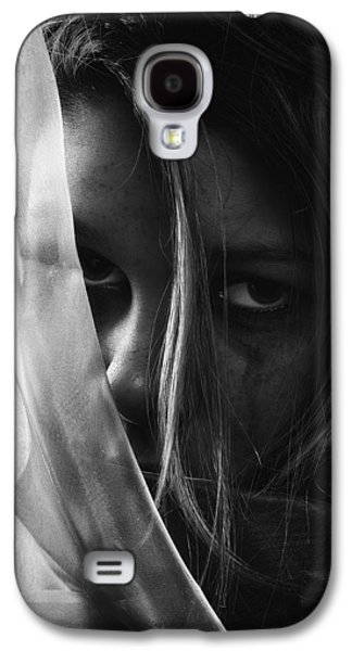 Crying Galaxy S4 Cases - Sad Girl BW Galaxy S4 Case by Erik Brede