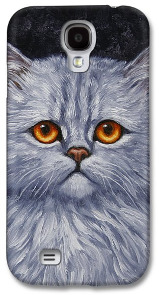 Gray Tabby Galaxy S4 Cases - Sad Kitty Galaxy S4 Case by Crista Forest