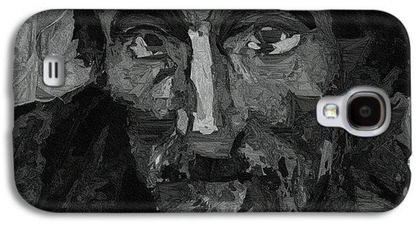 Old Man Galaxy S4 Cases - Sad Man Galaxy S4 Case by Ayse Deniz