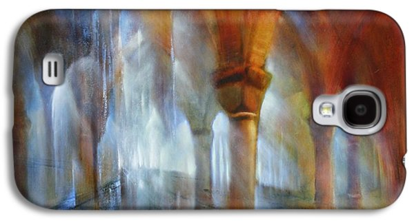 Church Pillars Paintings Galaxy S4 Cases - Saeulenhalle Galaxy S4 Case by Annette Schmucker