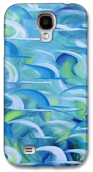 Flock Of Birds Paintings Galaxy S4 Cases - Safe beneath the Wings Galaxy S4 Case by Nereida Rodriguez