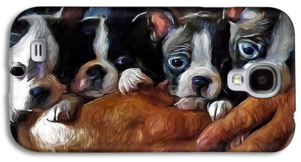 Puppy Digital Galaxy S4 Cases - Safe In The Arms Of Love - Puppy Art Galaxy S4 Case by Jordan Blackstone