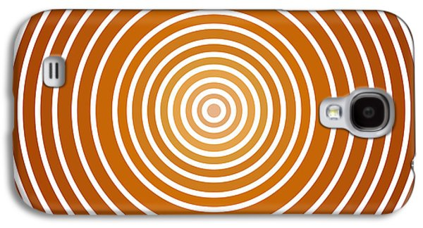 Abstract Nature Galaxy S4 Cases - Saffron Colored Abstract Circles Galaxy S4 Case by Frank Tschakert