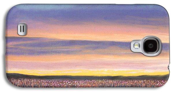 Skylines Pastels Galaxy S4 Cases - Sagebrush Sunset A Galaxy S4 Case by Michael Heikkinen