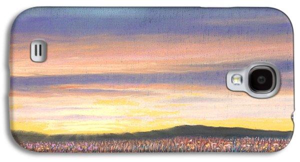 Skylines Pastels Galaxy S4 Cases - Sagebrush Sunset B Galaxy S4 Case by Michael Heikkinen