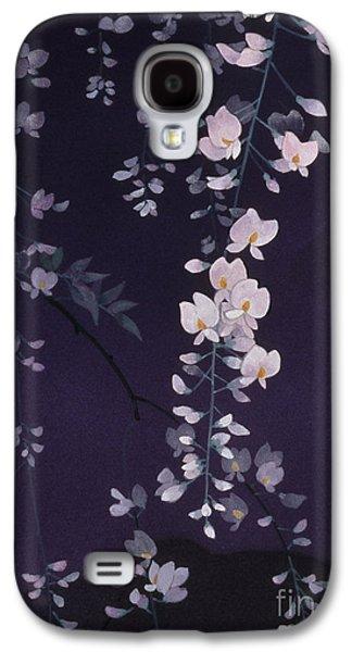 Purple Robe Galaxy S4 Cases - Sagi No Mai Crop II Galaxy S4 Case by Haruyo Morita
