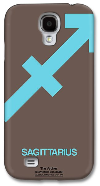 Virgo Galaxy S4 Cases - Sagittarius Zodiac Sign Blue Galaxy S4 Case by Naxart Studio