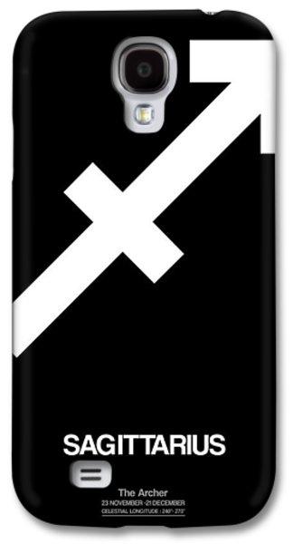 Virgo Galaxy S4 Cases - Sagittarius Zodiac Sign White Galaxy S4 Case by Naxart Studio