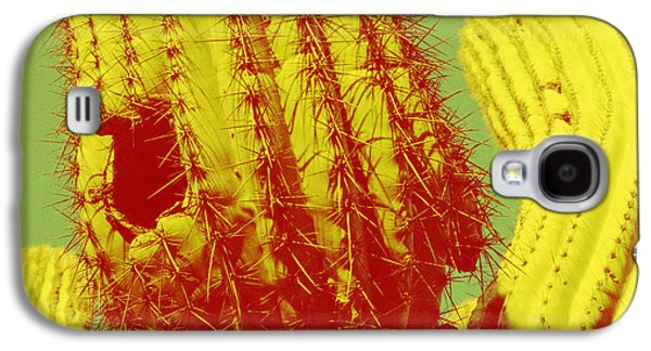 Sonora Paintings Galaxy S4 Cases - Saguaro Celebration I Galaxy S4 Case by Carolina Liechtenstein