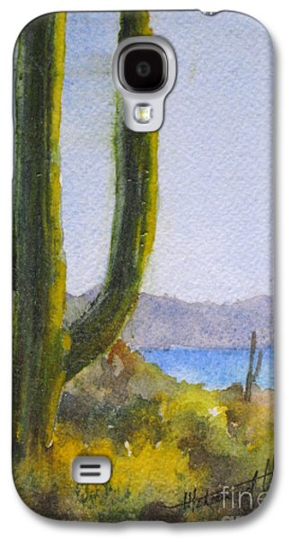 Sonora Paintings Galaxy S4 Cases - Saguaro Galaxy S4 Case by Mohamed Hirji