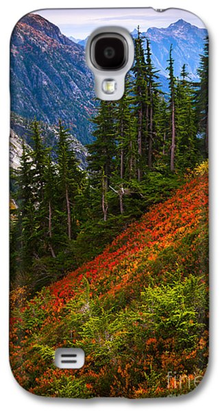 Landscapes Photographs Galaxy S4 Cases - Sahale Arm Galaxy S4 Case by Inge Johnsson