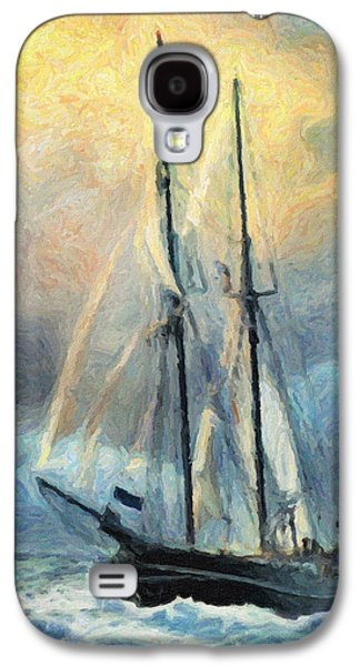 Frigates Paintings Galaxy S4 Cases - Sail Away to Avalon Galaxy S4 Case by Taylan Soyturk
