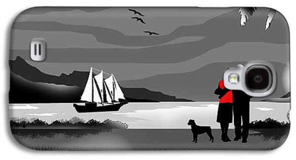 Dogs Digital Art Galaxy S4 Cases - Sail Away With Me To Another World Galaxy S4 Case by Peter Stevenson