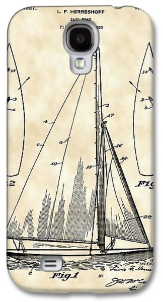 Aft Galaxy S4 Cases - Sail Boat Patent 1925 - Vintage Galaxy S4 Case by Stephen Younts
