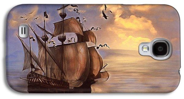 My Ocean Galaxy S4 Cases - Sail Into My Dreams Vintage Galaxy S4 Case by Georgiana Romanovna