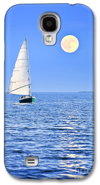 Sailboat At Full Moon Galaxy S4 Case by Elena Elisseeva