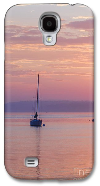 Sailboat Ocean Galaxy S4 Cases - Sailboat at Sunrise in Casco Bay Maine Galaxy S4 Case by Diane Diederich