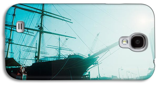 Sailboat Images Galaxy S4 Cases - Sailboat At The Port, South Street Galaxy S4 Case by Panoramic Images