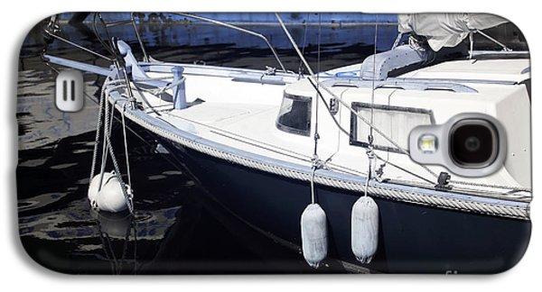 Docked Sailboat Galaxy S4 Cases - Sailboat Dock Galaxy S4 Case by John Rizzuto