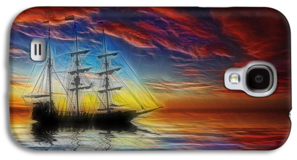 Pirate Ships Galaxy S4 Cases - Sailboat Fractal Galaxy S4 Case by Shane Bechler