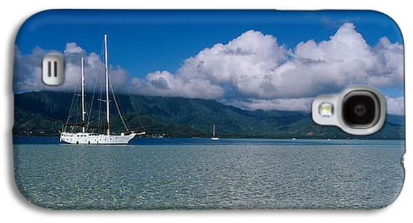 Sailboat In A Bay, Kaneohe Bay, Oahu Galaxy S4 Case by Panoramic Images