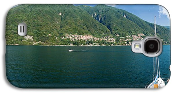 Sailboat Images Galaxy S4 Cases - Sailboat In A Lake, Lake Como, Como Galaxy S4 Case by Panoramic Images