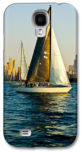 Sailboat In A Lake, Lake Michigan Galaxy S4 Case by Panoramic Images
