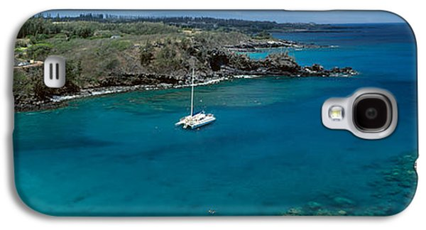 Sailboat Images Galaxy S4 Cases - Sailboat In The Bay, Honolua Bay, Maui Galaxy S4 Case by Panoramic Images