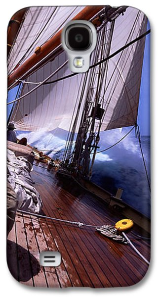 Sailboat Images Galaxy S4 Cases - Sailboat In The Sea, Antigua, Antigua Galaxy S4 Case by Panoramic Images