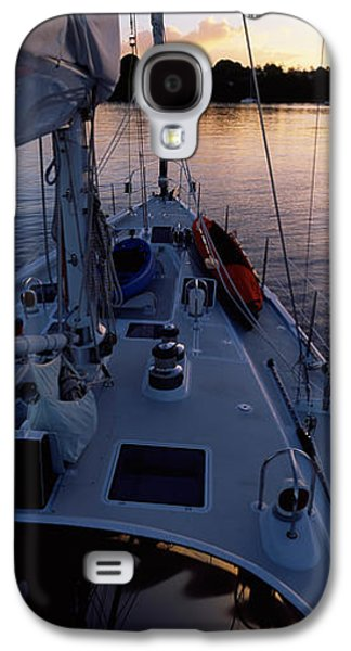 Sailboat Images Galaxy S4 Cases - Sailboat In The Sea, Kingdom Galaxy S4 Case by Panoramic Images