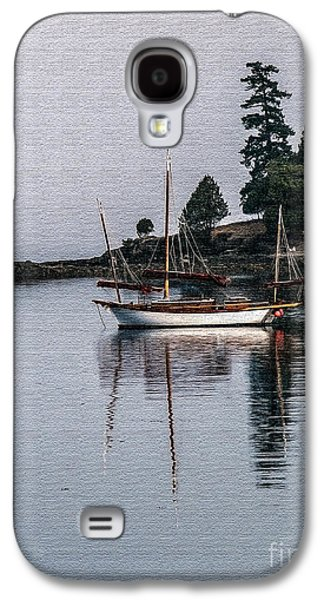 Aft Galaxy S4 Cases - Sailboat in Watercolor Galaxy S4 Case by Robert Bales
