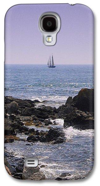Contemplative Photographs Galaxy S4 Cases - Sailboat - Maine Galaxy S4 Case by Photographic Arts And Design Studio