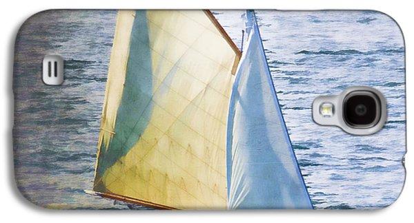 Sailboat Ocean Galaxy S4 Cases - Sailboat Off Marthas Vineyard Massachusetts Galaxy S4 Case by Carol Leigh