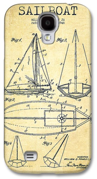 Sailboat Patent Drawing From 1948 - Vintage Galaxy S4 Case by Aged Pixel
