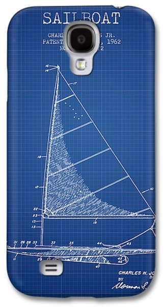Sailboat Patent From 1962 - Blueprint Galaxy S4 Case by Aged Pixel