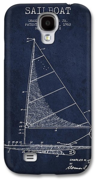 Sailboat Patent From 1962 - Navy Blue Galaxy S4 Case by Aged Pixel