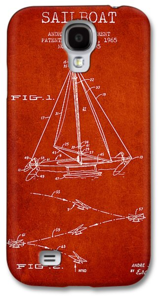 Sailboat Patent From 1965 - Red Galaxy S4 Case by Aged Pixel