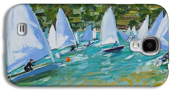 Sailboats Galaxy S4 Cases - Sailboat Race Galaxy S4 Case by Andrew Macara